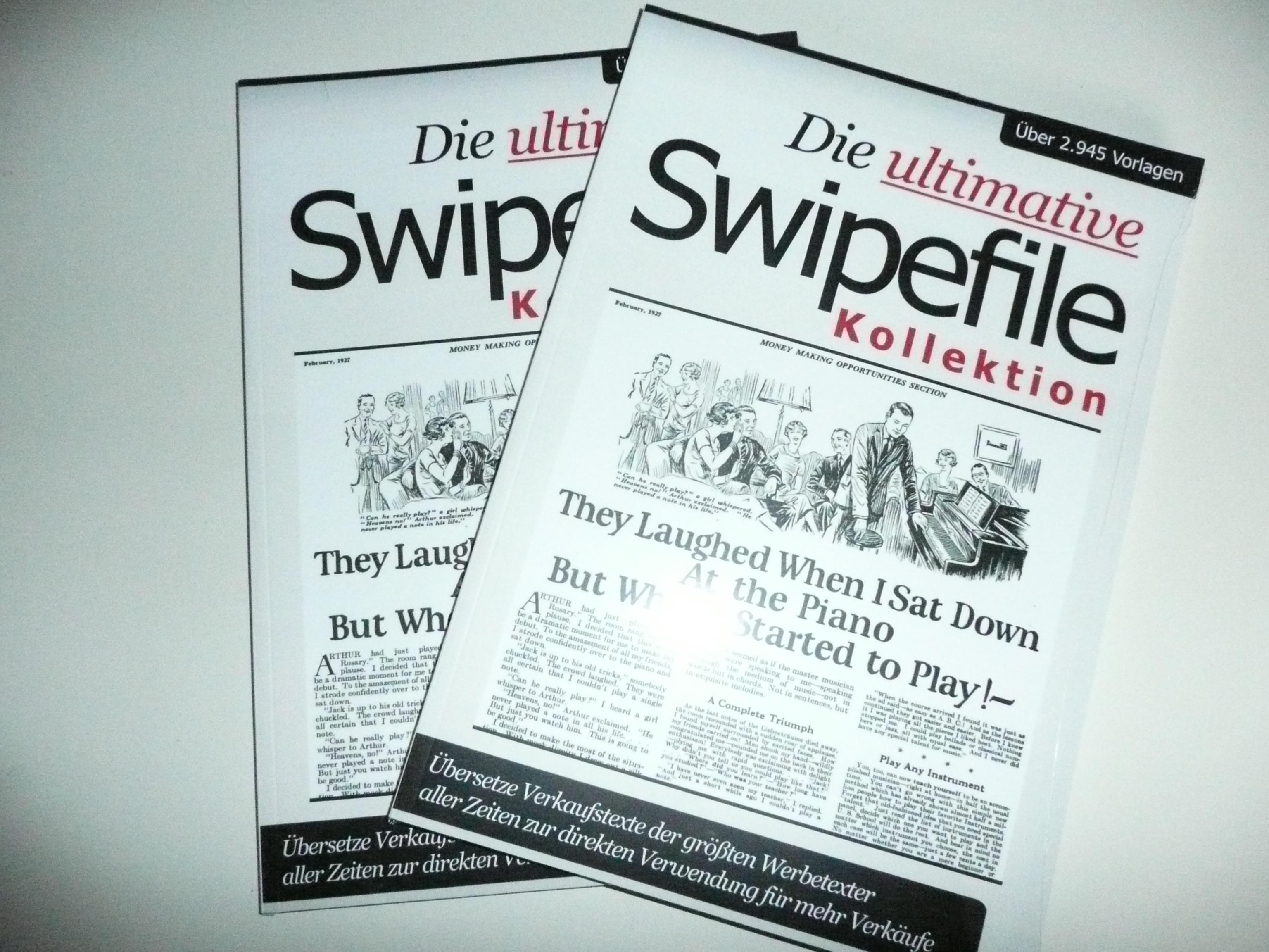 Die ultimative Swipefile Kollektion - Inspiration für tolle Werbetexte
