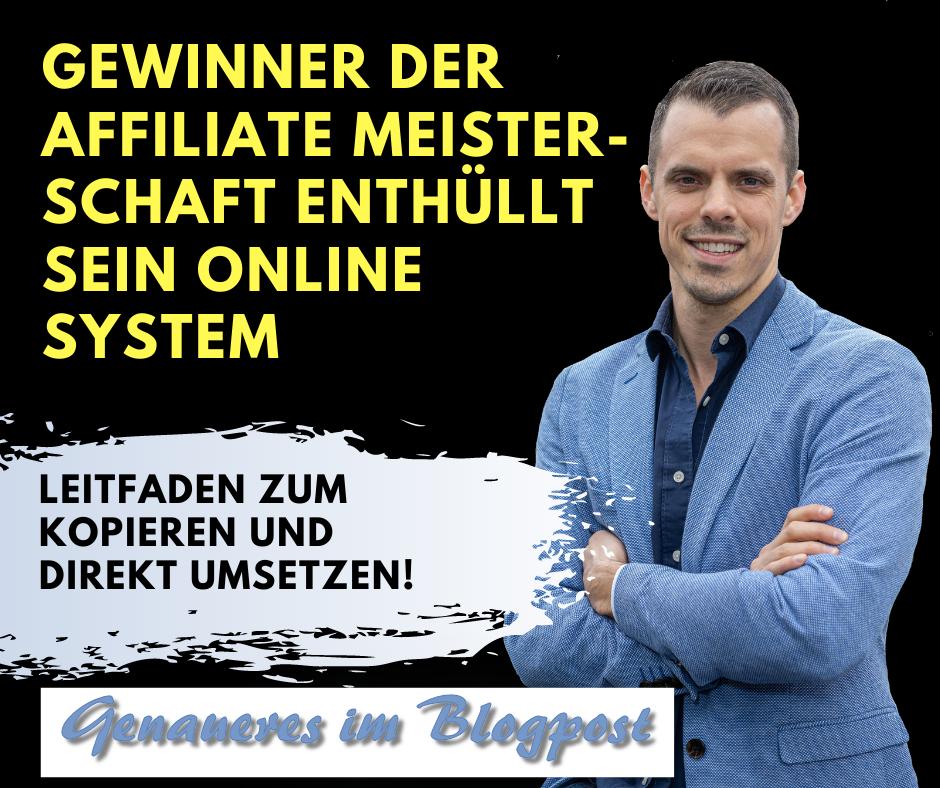 Jens Neubeck - Gewinner der Affiliate-Meisterschaft