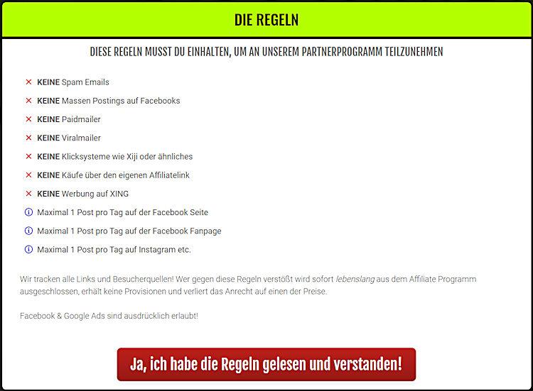 Ralf Schmitz Regeln Partnerprogramm